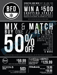 Tilly's Black Friday 2014 Ad ★ Shop and ship with #borderlinx ★