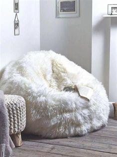03ec92f097 Sheepskin pouf Lamb pouf White pouf Large pouf Fur pouf Comfortable pouf  Sheepskin beanbag Bean Bag Furry  Bedroom  roomdecor  RoomIdeas