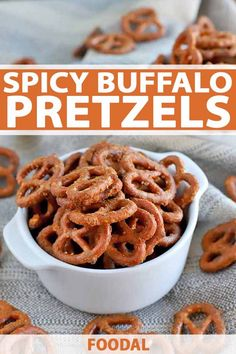 When your next snack attack strikes, load up on a couple of handfuls of spicy buffalo pretzels. They're perfect for game day. Get the recipe now on Foodal. Buffalo Pretzels, Spicy Pretzels, Seasoned Pretzels, Pretzels Recipe, Ranch Pretzels, Snack Mix Recipes, Yummy Snacks, Appetizer Recipes, Cooking Recipes