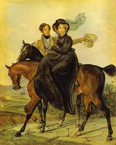 Portrait of K. A. and M. Ya. Narishkin, 1827 by Karl Brullov.