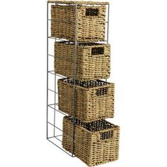 Buy HOME Slimline 4 Drawer Seagrass Storage Tower - Natural at Argos.co.uk, visit Argos.co.uk to shop online for Bathroom shelves and storage units, Bathroom shelves and units
