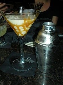 A decadent Caramel Swirl cocktail with Van Gogh Dutch Caramel vodka, Irish Cream, and cream.