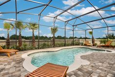 Right off your living room is your gorgeous closed in patio and private pool!