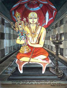 #Ramanujacharya with CheluvaNarayana #Ramanuja1000 #Bhashyakar #watercolor #acrylic 