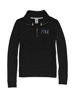 Victoria's Secret LOVE PINK Funnel-neck Perfect Zip Hoodie ...