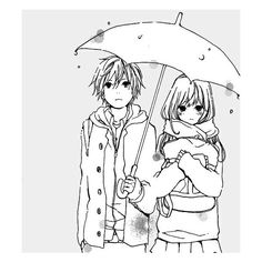 Cute Anime/Manga Couples ❤ liked on Polyvore featuring anime, couple, manga, drawings, backgrounds and filler