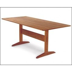 Trestle Table Project Plan by Fine Woodworking and Charles Durfee - Woodworking - Designs - Print Project Plans Trestle Table Plans, Trestle Dining Tables, Wood Tables, Pallet Furniture, Furniture Projects, Table Games, Fine Woodworking, Solid Oak, Home Improvement