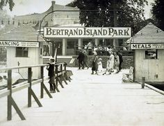 Bertrand Island Amusement Park was located in Mount Arlington, NJ, just a few yards north of the Landing, NJ border on an arm of land that jutted out into Lake Hopatcong. This park was one of New Jersey's most popular summer attractions from the 1920's thru 1983.