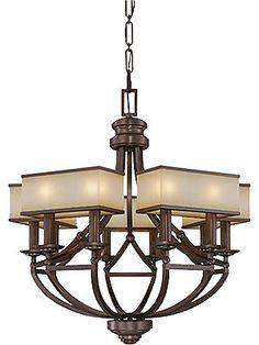 Chandeliers. Underscore 10 Light Chandelier In Cimarron Bronze