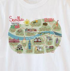 Sevilla, camiseta de la empresa Designer Souvenir