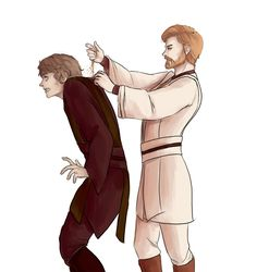 Sometimes, Obi-wan just gets tired of Anakin's whining