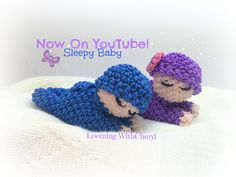 Rainbow Loom Sleepy Baby Doll Loomigurumi Amigurumi Hook Only детка Лумигуруми. Figures, Toy, stuffed, tutorial By: Looming With Cheryl