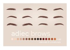 """ajduckie: """" adiec brows // recolored six fluffy brow stylez by recolored in a buttload of colors ok 🌻 Keep reading """" Los Sims 4 Mods, Sims 4 Body Mods, Sims 4 Game Mods, Sims 4 Cc Eyes, Sims 4 Mm Cc, Sims Four, Maxis, Sims 4 Content, Vêtement Harris Tweed"""