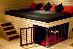 Cool bed with dog space via So Many Things on Facebook