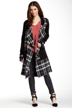 Long Sleeve Plaid Wool Coat by Sloane Rouge on @HauteLook