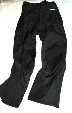 Patagonia Women's Microburst Pants Waterproof Size 4 83421 TRX 393 Black #Patagonia #OutdoorShellPants