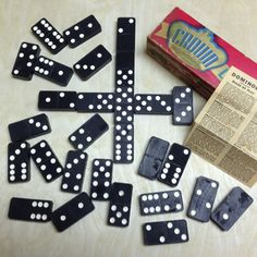 I was out looking for old tools and came across this nice old box of Crown dominoes. I remember playing with a set like this at grandmas house Dinner Party Games, Old Boxes, Different Games, Vintage Games, Great Gifts, Crown, Shapes, Tools, Nice