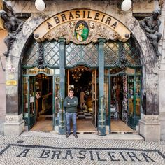 In Lisbon Re-Tale, Sebastian Erras presents 30 spectacular façades found in the capital city to offer a glimpse into Portugal's past traditions. Porto Portugal, Spain And Portugal, Portugal Travel, Portugal Trip, Visit Portugal, Art Nouveau, Shop Facade, Shop Fronts, Decorative Tile