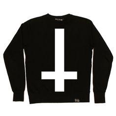 Inverted Cross Crew Neck Sweatshirt [B]