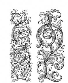 Create breathtaking DIY projects with the Baroque Cling Mounted Rubber Stamp Set designed by Tim Holtz for Stampers Anonymous. The set includes 2 cling rubber Baroque Design, Baroque Pattern, Filigree Design, Filagree Tattoo, Baroque Tattoo, Lace Tattoo Design, Tattoo Designs, Tattoo Filler, Vine Tattoos