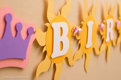Tangled Birthday Banner Rapunzel Party Tangled by CraftsByBiessel Rapunzel Birthday Party, Princess Birthday, Princess Party, Third Birthday, 4th Birthday Parties, Tangled Party Decorations, Party Time, Rapunzel Cake, Cake Bunting
