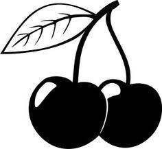 Black and white cherries Black Cherry Tattoo, Cherry Tattoos, Black And White Baby, Clipart Black And White, Cherry Drawing, Baby Flash Cards, Sally Nightmare Before Christmas, Free Clipart Images, White Cherries