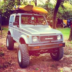 kayaking with a suzuki samurai tin top