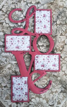 Hanging Metal LOVE Picture Frame Wall Decor / Bold