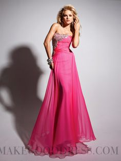 Stylish A-line Strapless Sleeveless Chiffon Prom Dresses