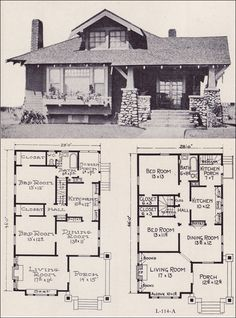 HOUSE ARCHITECTURAL PLANS DESIGN DRAWING ART PRINT Poster Home Vintage Style