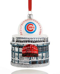 Kurt Adler Christmas Sports Ornament, Chicago Cubs Wrigley Field - Christmas Ornaments - Holiday Lane - Macy's