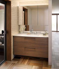 イメージ Washroom Design, Bathroom Design Small, Small Balcony Design, Basin Design, House Of Beauty, Living Room Tv, Closet Bedroom, Interior Design Living Room, House Design