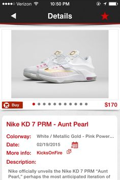 Aunt pearl -KDS Kd 7, Kd Shoes, Pink Power, Aunt, Adidas Sneakers, Pearls, Nike, Beads, Kd Sneakers
