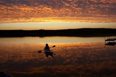 Nice sunset at Kangaroo lake, Door County WI. We used to rent a cabin at Pinky's on Kangaroo Lake.
