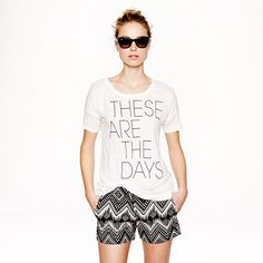 J.Crew - Linen these are the days tee
