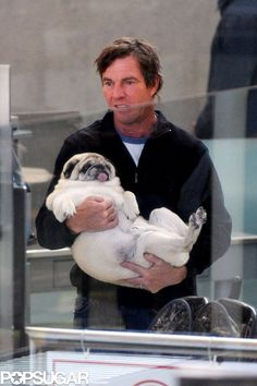 Celebrity Dog Lovers - Dennis Quaid #celebrities #dogs