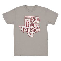 The geography of red dirt music. Need this shirt!