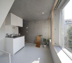 KOTONA is a minimalist house located in Tokyo, Japan, designed by BE-FUN. The exposed monolith concrete structure features an interior that maximizes space as efficiently as possibly. (11)