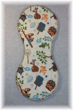 Baby Bib Burp Cloth quilted flannel contoured by MaricoleDesigns