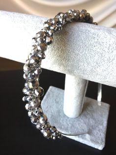 Bridal hair tiara Wedding crystal headpiecesilver tiara | Etsy Hairband Hairstyle, Tiara Hairstyles, Diy Hairstyles, Bridal Hair Tiara, Headpiece Wedding, Cute Jewelry, Hair Jewelry, Pearl Headband, Handmade Headbands