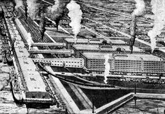 [image ALT: An architectural rendering of a busy industrial port. It is the U.S.Army supply base at NewOrleans.]