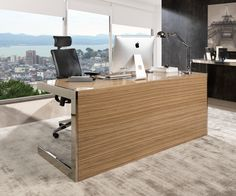 Adder Home Office by Laskasas | Modern home office with Zed desk and an amazing view of Oporto | www.laskasas.com