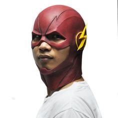 The Flash Mask DC Movie Cosplay Costume Prop Halloween Full Head Latex Party Masks * Details can be found by clicking on the image.