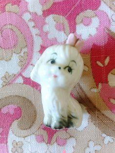 SALE Kitsch Cute Puppy Dog Figurine Ornament