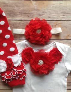 Baby Girl Christmas Outfit Baby Girl Leg by AvaMadisonBoutique, $38.95