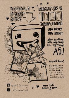 1000Drawings drop-off box #flyer