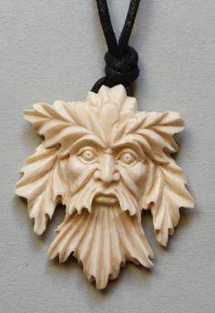 Anhänger Forest Man Celtic Mammut Bein Keltisch от mammothcarving