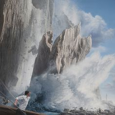 Is man battling nature or himself? In these fascinating new paintings by artist Joel Rea, we see man and a tiger going one-on-one with the fury of nature. Amazing Paintings, Realistic Paintings, Art Paintings, Surrealism Painting, Artist Painting, Melbourne Art, Graphic Artwork, Environment Concept Art, Australian Artists