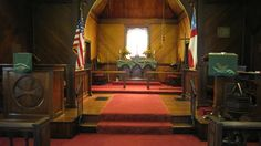 Here is the 'green' seasonal altar, lecturn pieces for Christ Church in Big Stone Gap, VA