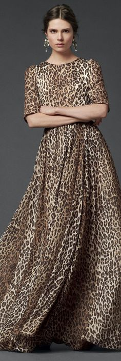 My style for sure, comfort and leopard print.  qb  Dolce & Gabbana | Woman Collection 2014